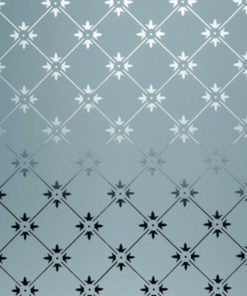 ET001 - Fleur Etched Glass Panel