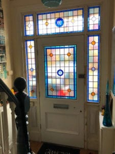 Restored Original Edwardian Front Door & Bespoke Stained Glass