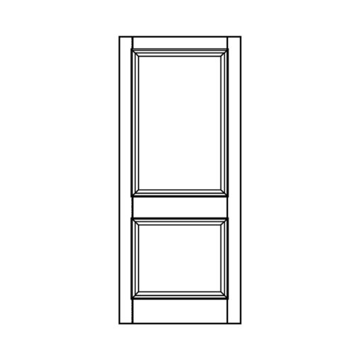 ND01 - Moulded 2 Panel Door (Hardwood/Softwood) (Victorian/Edwardian)