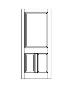 ND02 - Victorian To Edwardian Moulded 3 Panel Door (Hardwood/Softwood)