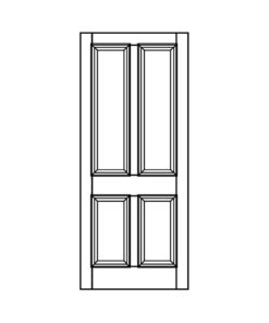 ND05 - Victorian To Edwardian Moulded 4 Panel Door (Hardwood/Softwood)