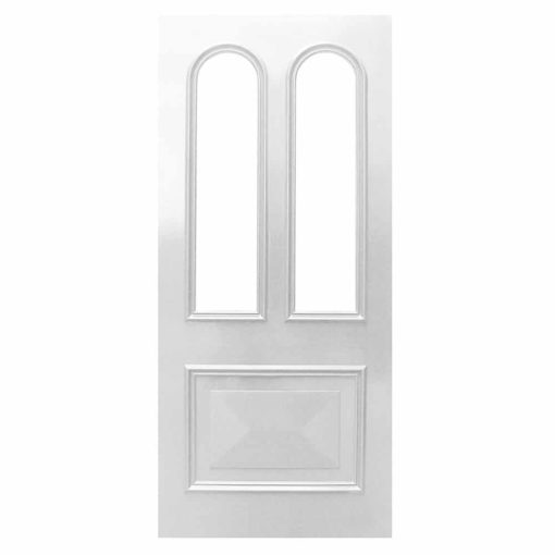 ND08 - Victorian To Edwardian Moulded Curved 3 Panel Door Example