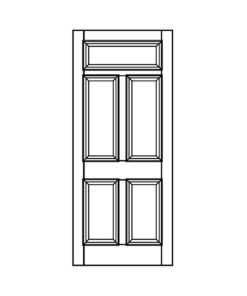 ND09 - Victorian Moulded Fanlight 5 Panel Door