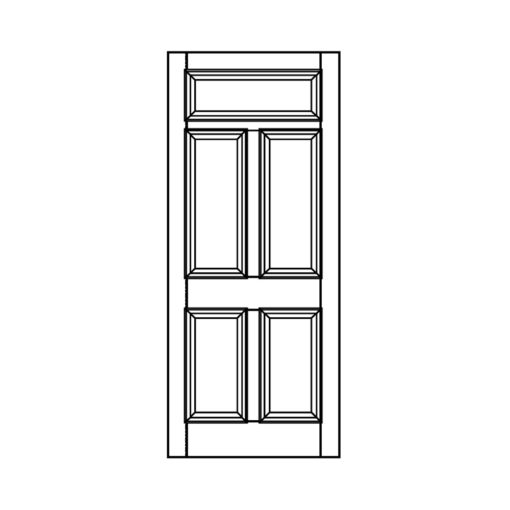 ND09 - Victorian Moulded Fanlight 5 Panel Door