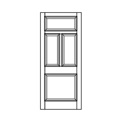 ND10 - Victorian Moulded Fanlight 4 Panel Door
