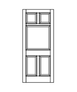 ND13 - Victorian To Edwardian Moulded 5 Panel Door