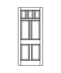 ND15 - Victorian To Edwardian Moulded 7 Panel Door