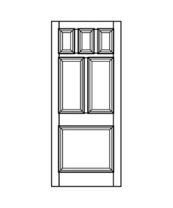 ND16 - Victorian To Edwardian Moulded 6 Panel Door