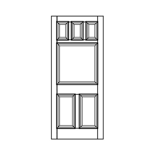 ND17 - Victorian To Edwardian 6 Panel Moulded Door