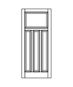 ND23 - 1930s Moulded 4 Panel Door