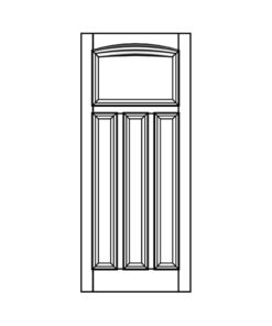 ND24 - 1930s Curved 4 Panel Moulded Door