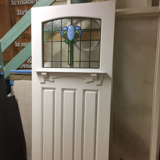 ND24 Example - 1930s Curved 4 Panel Moulded Door