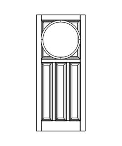 ND27 - 1930s Circle Top Panel Door