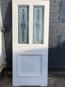 Bespoke Etched Glass Victorian Door