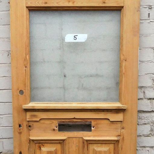 OD012 - Original 1930s 3 Panel Pine Door - Closeup