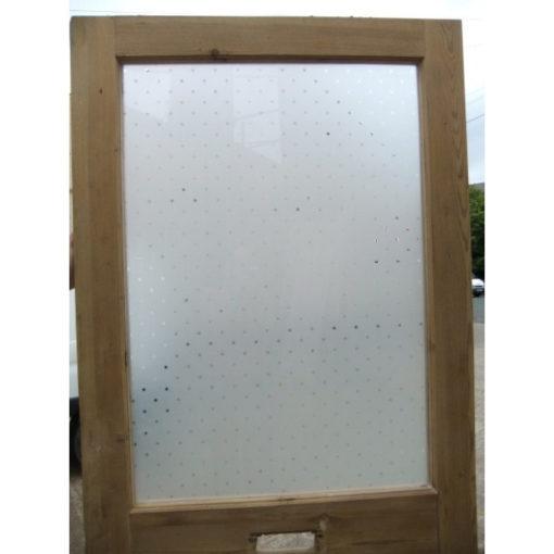 OD007 - Restored Original 3 Panel Etched Glass Door - Top Panel