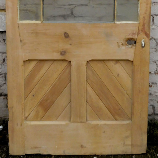 OD010 - Unrestored Original Pine Door - Bottom Panels