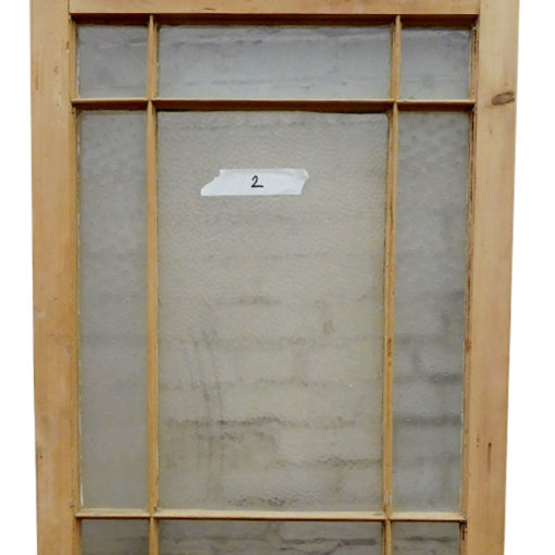 OD010 - Unrestored Original Pine Door - Modern Glass Panels