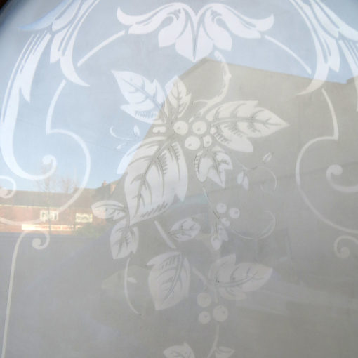 OD005 - Original Arched Etched Glass Door - Glass Design