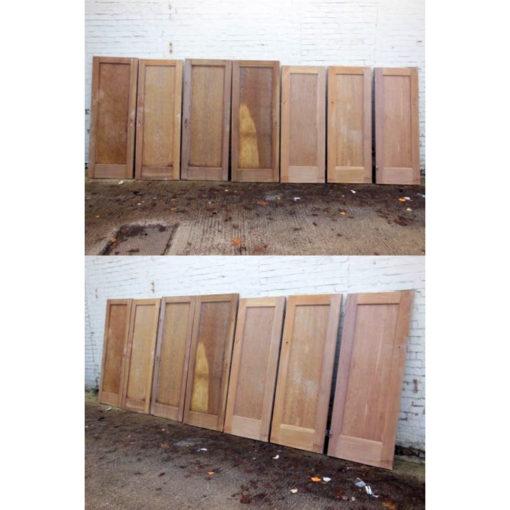 OD008 - Seven Original 1930s Single Panel Doors Set