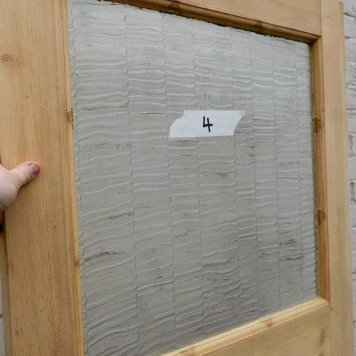 OD011 - Unrestored Original 1930s Pine Door - Top Window Panel