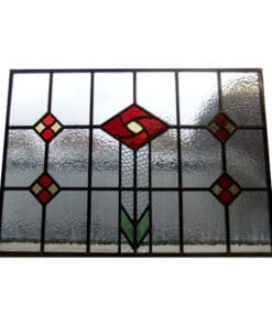 SG057 - 1930s Square Rose Stained Glass Design