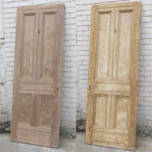 OD020 - Original Victorian To Edwardian 4 Panel Door - Sides
