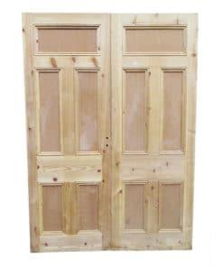 Traditional Pine Victorian Double Doors