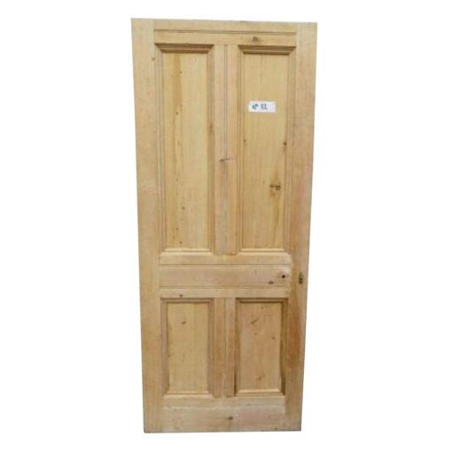 OD015 - Original Victorian To Edwardian Four Panel Door