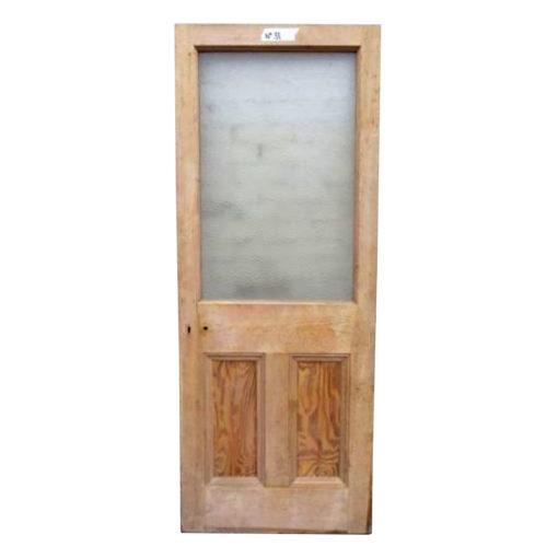 OD014 - Original Victorian To Edwardian 3 Panel Door