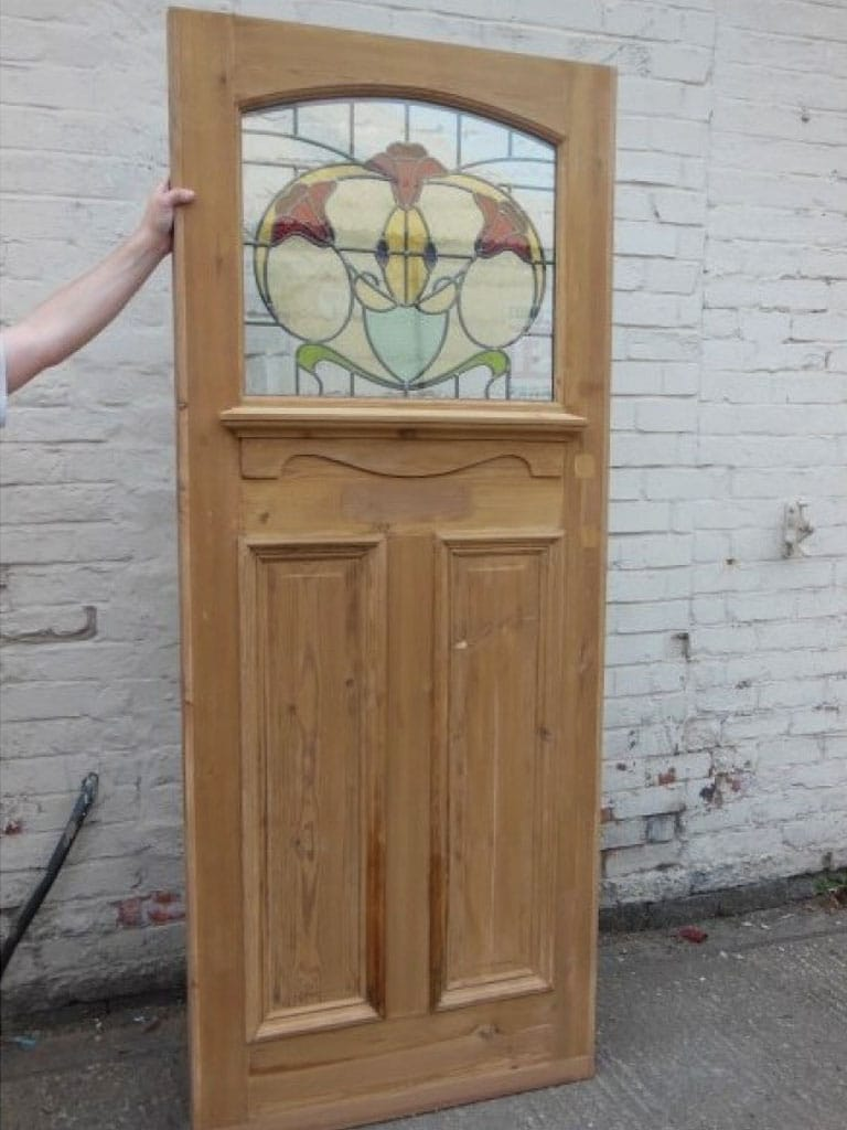 1930 39 S Stained Glass Doors 1930 Edwardian Exterior Door With Curve At Top Of Door Mar