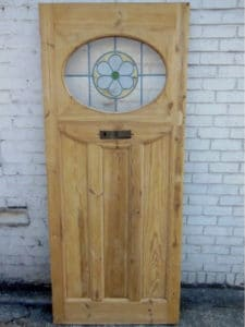 DP012 - 1930s Original Stained Glass Door