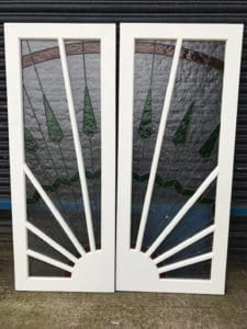 Art Deco Sunburst Doors Glazed