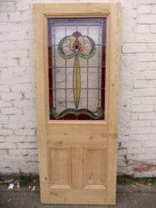 DP004 - Art Nouveau Stained Glass Edwardian Door