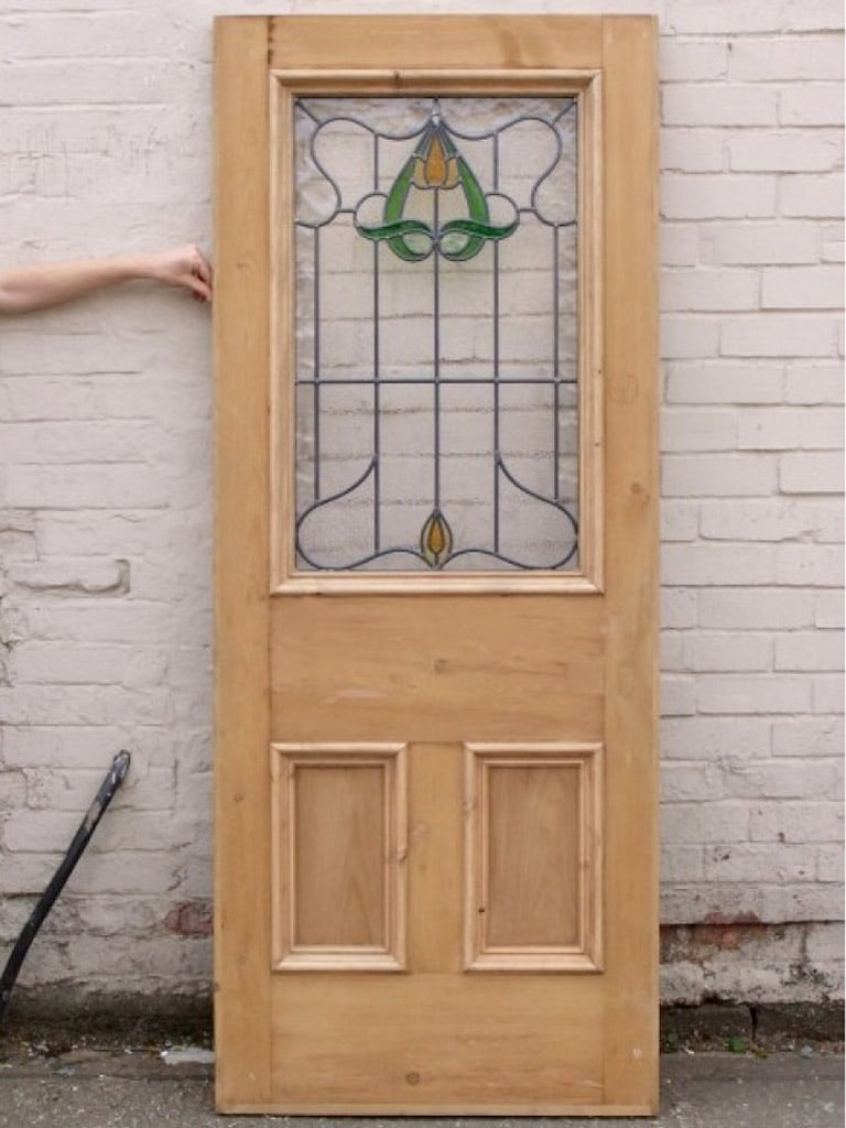 Sd003 original edwardian art nouveau stained glass Outside door design